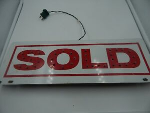 Vintage Light Up sold Real Estate Sign