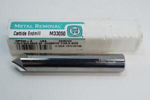 New Metal Removal 1 2 Carbide Chamfer Mill End Mill 82 Degree Countersink Usa