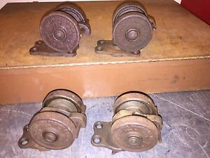 2 5 8 Large Vintage 1921 Hamilton run Rite No 6 Industrial Factory Casters