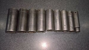Snap on 1 2 Deep Well Impact Socket Set Sae
