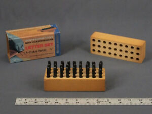 Young Bros Stamp Works Inc 1 8 Letter Set Steel Stamps 27pcs A Z Plus Box