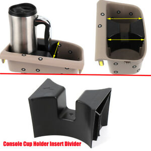 Black Front Center Console Cup Holder Insert Divider For Toyota Tacoma 05 06 10
