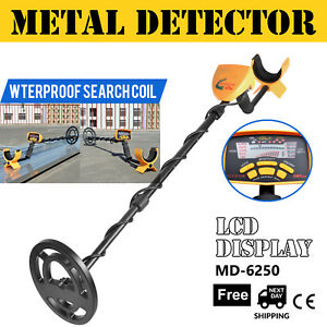 New Md 6250 Metal Detector Gold Digger Deep Sensitive Light Hunter Lcd Display