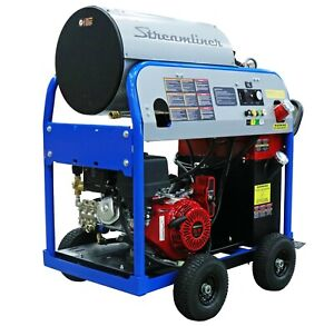 Used Hotsy 1075sse Gas diesel 4gpm 3500psi Hot Water Pressure Washer 281 Hours