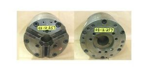 Rohm 12 3 Jaw Power Chuck A 8 Spindle Mount Model 1w 413 304a