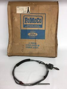 Nos Ford 1967 67 68 Galaxie Parking Emergency Brake Cable C7az 2853 b