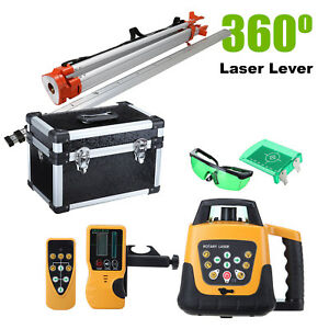 Auto Green Self leveling Horizontal Vertical Laser Level W Tripod Staff Case