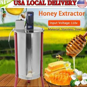 Stainless Steel 3 Frame Electric Honey Extractor Separator For Beekeeper Us Plug