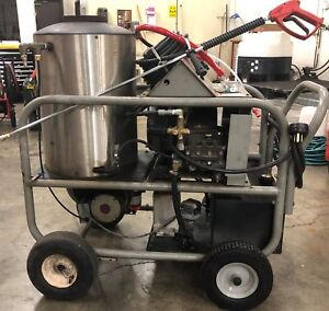 Used Alkota 430x4 Hot Water 1ph Diesel 4gpm 3000psi Pressure Washer