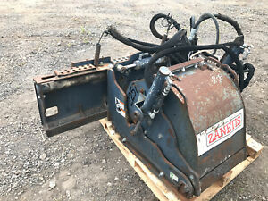 18 Zanetis Skid Steer Bobcat Planer Attachment Bobcat Cat Alitec Case