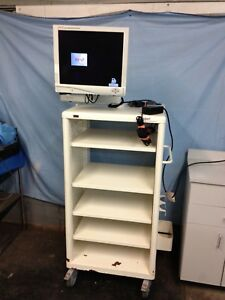 Stryker Medical Mobile Multi specialty Video Cart With 19 Flat Screen Monitor