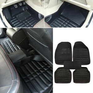 Universal Car Floor Mats Front Rear Floorliner All weather Waterproof Carpet