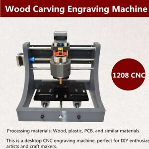 3axis 1208 Mini Cnc Router Milling Wood Engraving Machine 3d Printer Usb Spindle