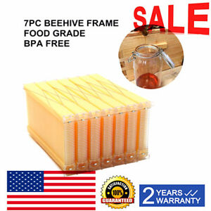 7pack Upgrade Auto flow Raw Frame Honey Beekeeping Harvesting Bee Hive Frames Us