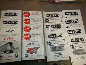 Meyer s Manure Spreaders More Instruction And Parts Manuals Lot Of 15