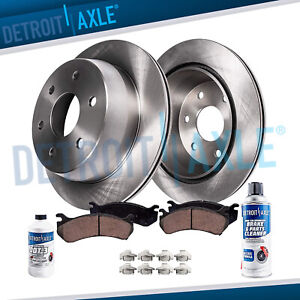 Rear Brakes Rotors Ceramic Brake Pad For Gmc Sierra 1500 Chevy Silverado 1500