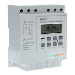 Digital Multipurpose Programmable Timer Switch 3 Phases Time Relay Socket