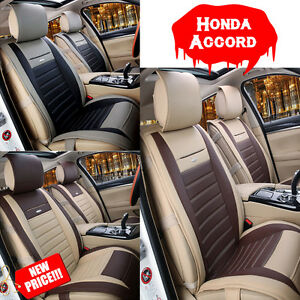 Pu Leather 5 Seats Car Front Rear Seat Cushion Chair Cover Fits Honda Accord Bsp