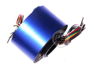 New 12wires 380v Ac dc 10a 50mm Dia Metal Capsule Conductors Slip Ring Blue