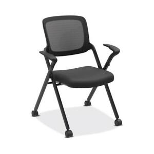 Hon Assemble Mesh Back Nesting Stacking Chair Fixed Arms Two Per