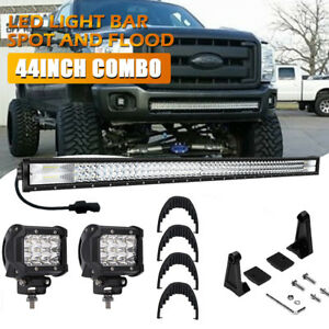 3 Row 44inch 2256w Led Light Bar Flood Spot Combo Off Roads Pk 4row 42 43 46 48
