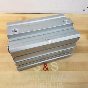 Smc Ecdq2b125 150dc Large Bore Compact Pneumatic Cylinder Used