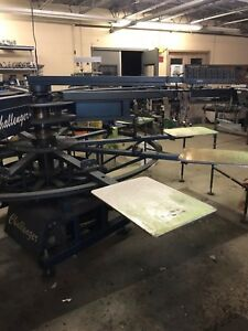 M r Challenger Automatic Screen Printing Press