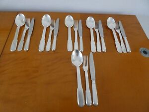 Christofle Laos Pattern Heavy Silverplate Fruit Or Dessert Set For 6