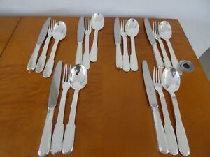 Christofle Laos Pattern Heavy Silverplate By Christian Fjerdingstad 1930 For 6