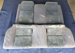 1996 2000 Honda Civic Coupe 2dr Rear Back Seat Dx Ek Vtec Gray Set