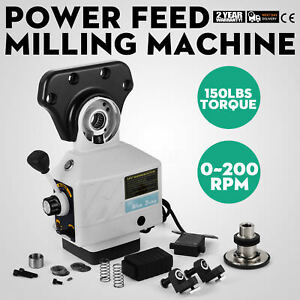 220v Power Feed X axis 150 Lbs Torque For Bridgeport Milling Machine 0 200 Rpm