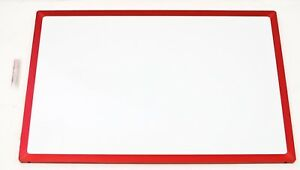 Corning Willow Glass Marker Dry Erase Board 1 3 X 2 Red Frame 58r254 02