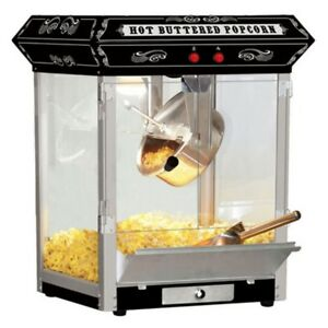 Popcorn Machine 4 Oz Top Great Commercial Cinema Movie Popper Maker Retro Design