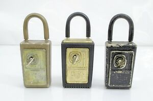 3 Vintage Supra c Lock Boxes All With Keys