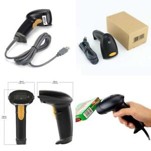 Wired Handheld Usb Automatic Laser Barcode Scanner Reader With Usb Cable black