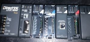 Automation Direct 205 Koyo 6 Slot Base With Dl260 Cpu And 4 Expansion Modules