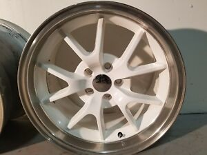 18 Ford Mustang Fr500 Style Rims Wheels Staggered White And Machine Set 4