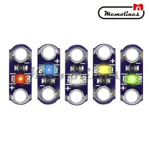 25pcs Yellow green white blue red Led 3v 5v Lilypad Smd Diy Kit Module Light