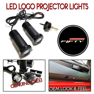 Lumenz Led Ghost Shadow Lights Door Logo Projectors Fits Chevy Camaro Fifty 50th
