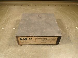 6 X 6 X 2 00004 Black Granite Surface Plate W 3 8 Height Column Bore Used