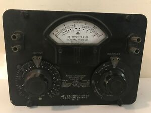 Vintage General Radio Company Audio frequency Microvolter 892 Type 546 c