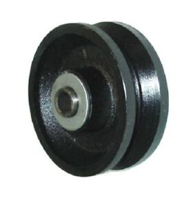 Durastar 4 X 1 1 2 Cast Iron V groove Wheel With 1 2 Id Roller Bearing