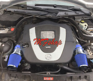 Blue For 2008 2012 Mercedes Benz C300 3 0l V6 Air Intake System Kit