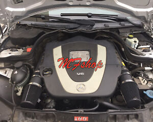 Coated Black For 2008 2012 Mercedes Benz C300 3 0l V6 Air Intake Kit