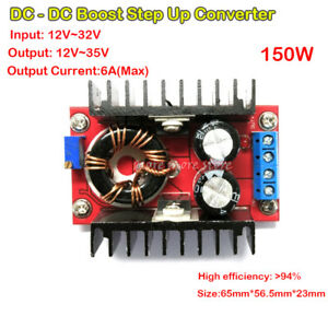 Dc dc Boost Converter 10 32v To 12 35v 6a 150w Step Up Voltage Charger Power Diy