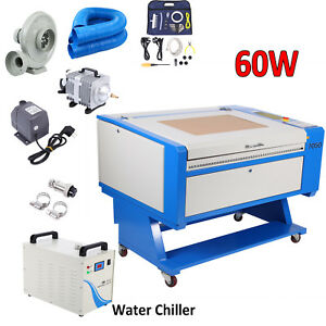 Usb 60w Co2 Laser Engraving Cutting Machine 700x500mm Cutter Ce W Water Chiller