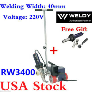 Weldy Rw3400 Hot Air Roofer Plastic Welders Machine 40mm Nozzle free Gun usa