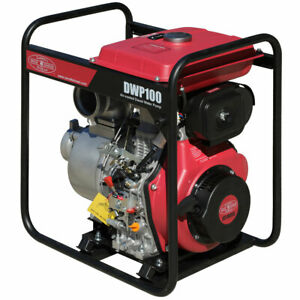 New Portable 4 Inch Diesel Water Pump 10 Hp Electric Recoil Start Commercial