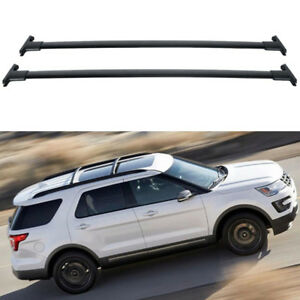 For 2013 Ford Explorer Roof Rack Cross Bars Pair Top Rail Rack Aluminum 132lbs