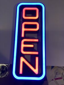 Greenlight Innovation Spectrum Series Led Multi colored Vertical Open Sign Works
